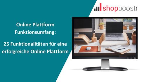 Online-Plattform-Funktionsumfang